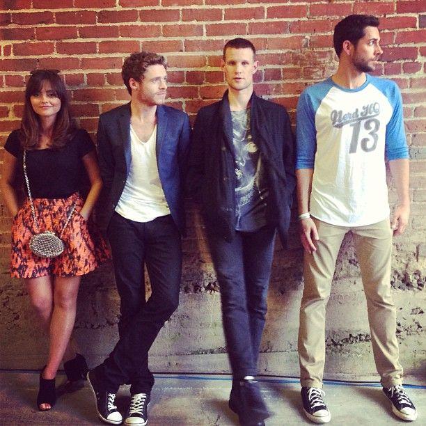 Jenna Coleman, Richard Madden, Matt Smith, and Zachary Levi at Nerd HQ 2013