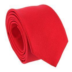 Cravate rouge en soie nattée The Nines - Saint Honoré II #cravate #rouge #mariage