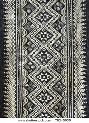 Strong black and white symmetrical fabric design