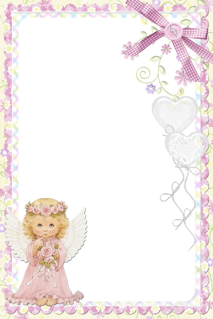 Cute Soft Pink PNG Frame with Angel | Frames | Pinterest ...