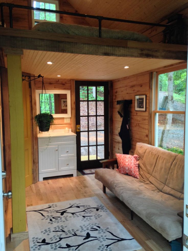 A 180 square feet tiny house in Canton, Georgia. Designed by Otter Hollow Design.