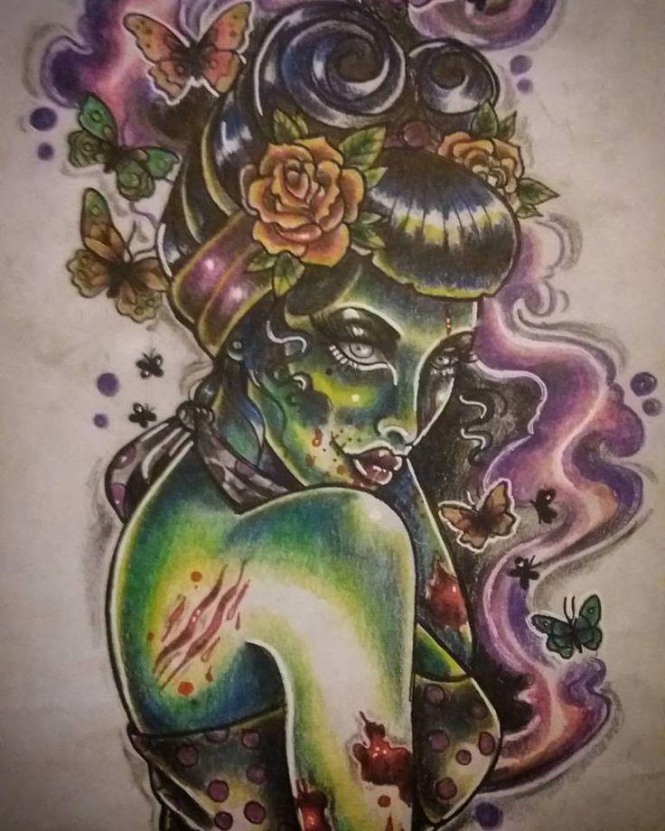 Tattoo Woman Zombie