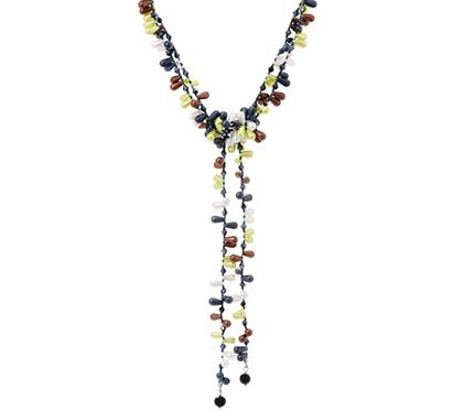 Add this adjustable candy lariat necklace from Attitudes by Renee to any ensemble for a truly sweet look. A double-strand of acrylic beads in multiple colors and glass beads in multiple colors--plus a double-strand center drop--make this necklace a tasty accent. From Attitudes by Renee(R). QVC.com