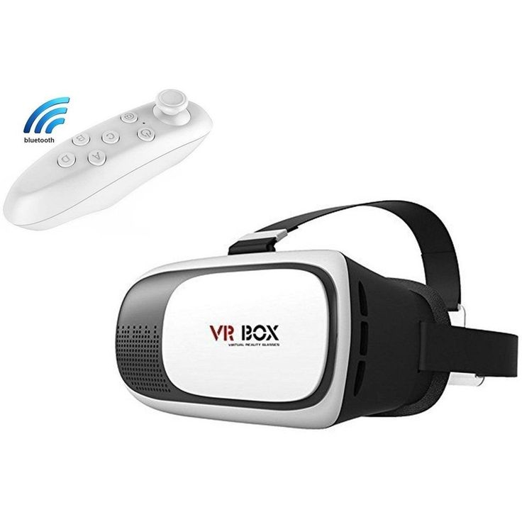 VR BOX 3D Headset Glasses VR Virtual Reality 3D Video Game Glasses W/ Remote