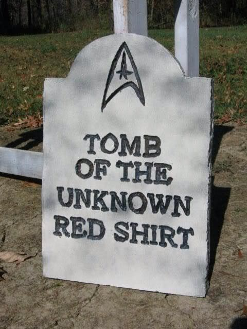 I bet the USS Enterprise (NCC-1701) commissioned many of these gravestones in its time. Hehe! XD