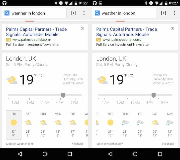 Google se met aux prévisions météo sur 10 jours - http://www.frandroid.com/0-android/web-mobile/288436_google-se-met-aux-previsions-meteo-10-jours  #WebMobile