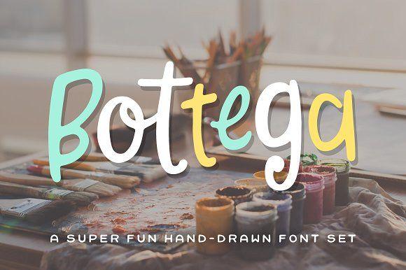 Bottega Font Set by Denise Chandler on @creativemarket