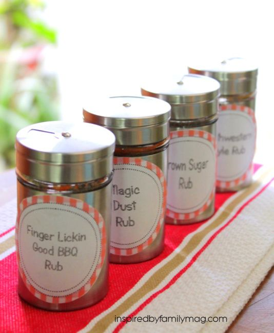 Last minute Father's day gift- 4 easy meat rub recipes & free printable labels