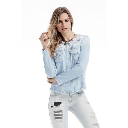 Jaqueta Jeans. Manga Longa Osmoze Jeans Azul Claro | Zattini