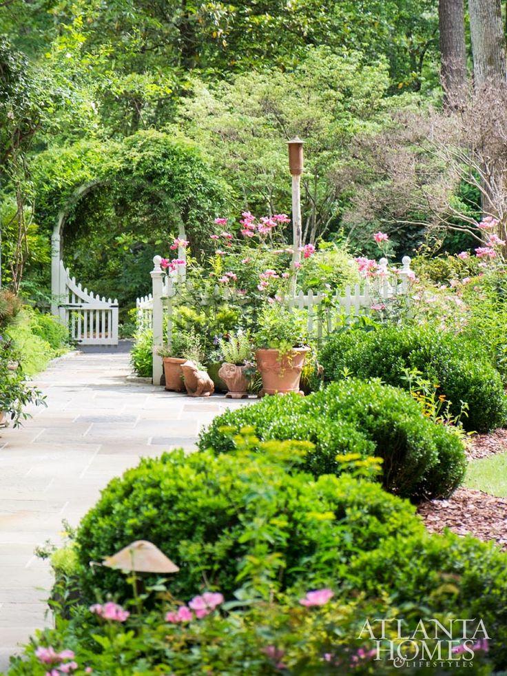 Gorgeous Moon Gate Trellis Fence With Perennial Garden McWilliams_Garden