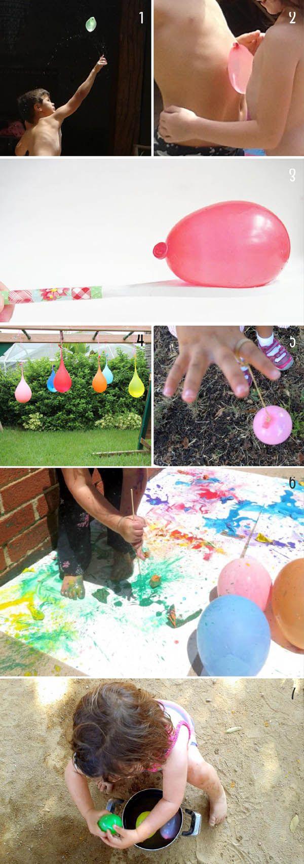 juegos para niños con globos de agua