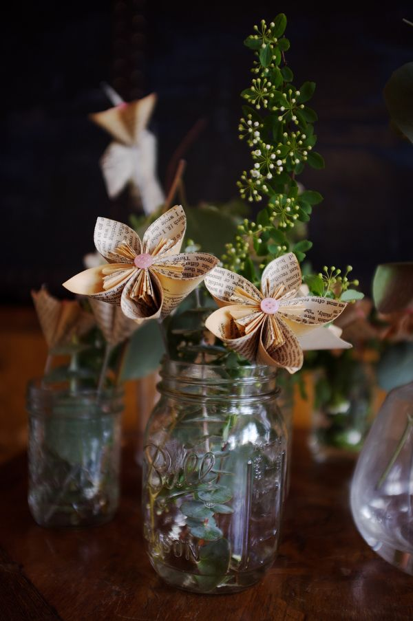 Best mason jar centerpieces images on pinterest