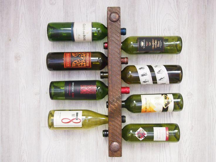 Unique Christmas gift wooden wine rack Christmas by VetrinaDelVino