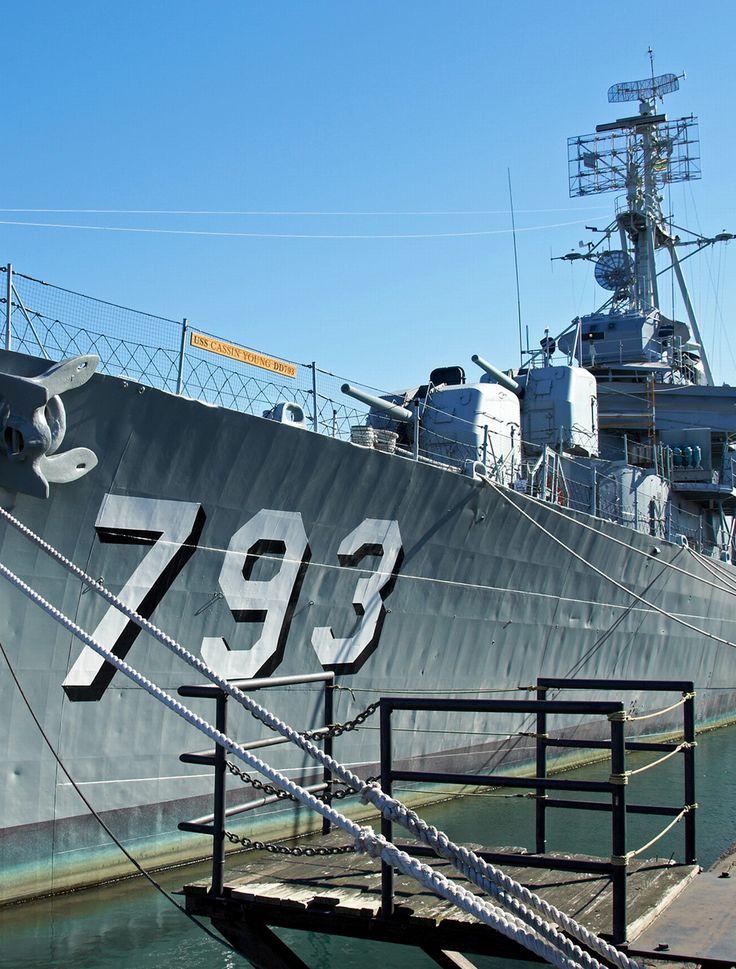 USS Cassin Young (DD-793), a Fletcher-class destroyer. Charlestown, Massachusetts, USA.