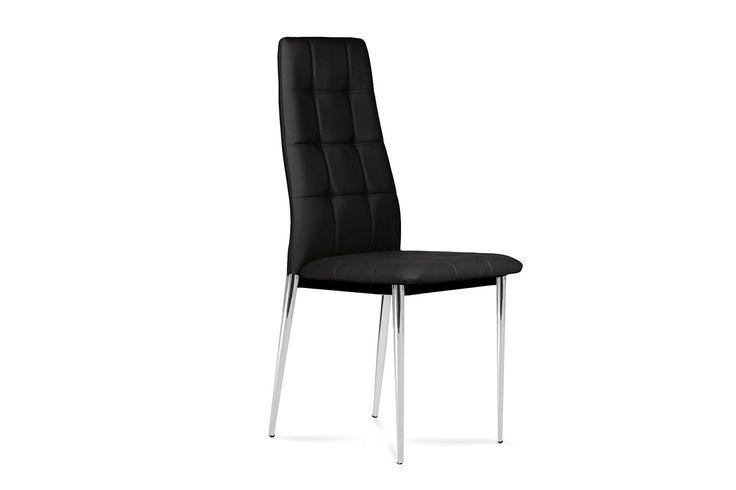 Krzesło GLABER w stylu nowoczesnym - czarny