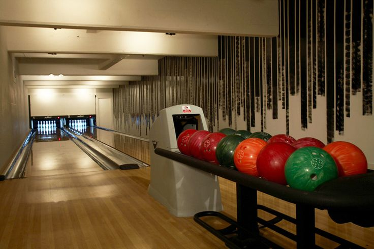 Knock down some pins at Shoreditch House.  London, UK