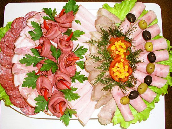 УКРАШЕНИЕ БЛЮД-14. Мясная тарелка - пошаговые фото, рецепты