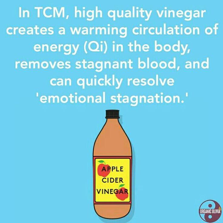 "from @organic_olivia  -  ""Vinegar creates a temporary warming circulation of…"