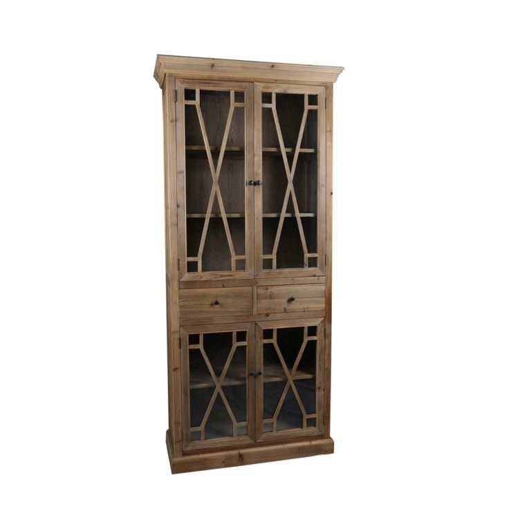 Capulet Tall Display Cabinet Natural - Cabinets & Storage - MOE'S Wholesale
