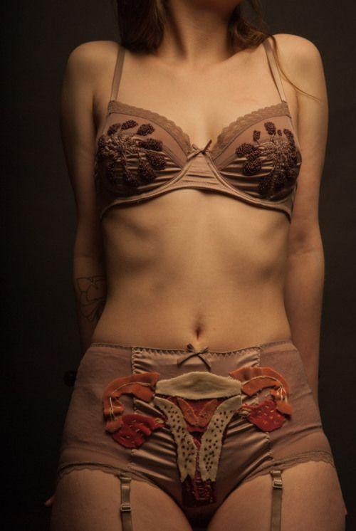 I am a Woman, I am a Body, I am a Womb :: Anatomical Wearable Art by Betty Baker