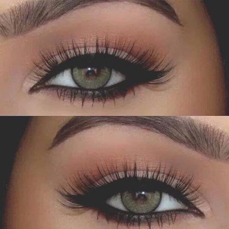 For beautiful green eyes #biglashes #eyemakeup #naturallook