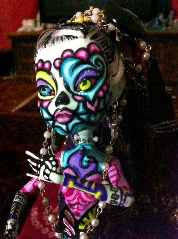 OOAK Monster High Doll Sugar Skull Custom. $90.00, via Etsy.