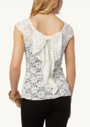 Lace Bow Back Top | What's Hot | rue21