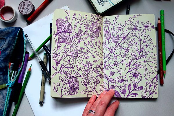 Anna Aniskina Sketchbook pages on Behance