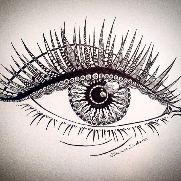 This is an eye I did for an art competition on instagram recently (: