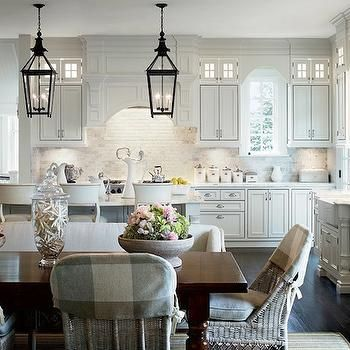 Wicker Dining Chairs, Transitional, kitchen, Architectural Digest