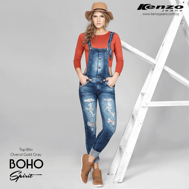 Un look diferente basado en un clásico Overol, atrévete a innovar #KenzoJeans #BohoSpirit  Conoce más en www.kenzojeans.com.co
