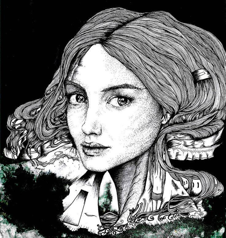 3ME by ninette // ink on paper