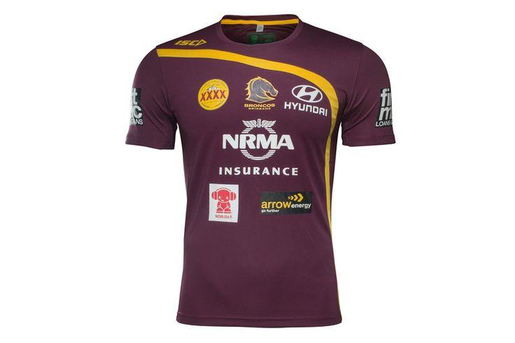 Brisbane Broncos NRL 2017 Players Rugby Training T-Shirt
