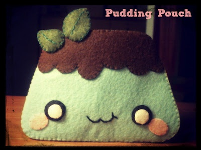 Hapy Friends Shoppe: How To Make A Kawaii Pudding Pouch From Felt (Basics)