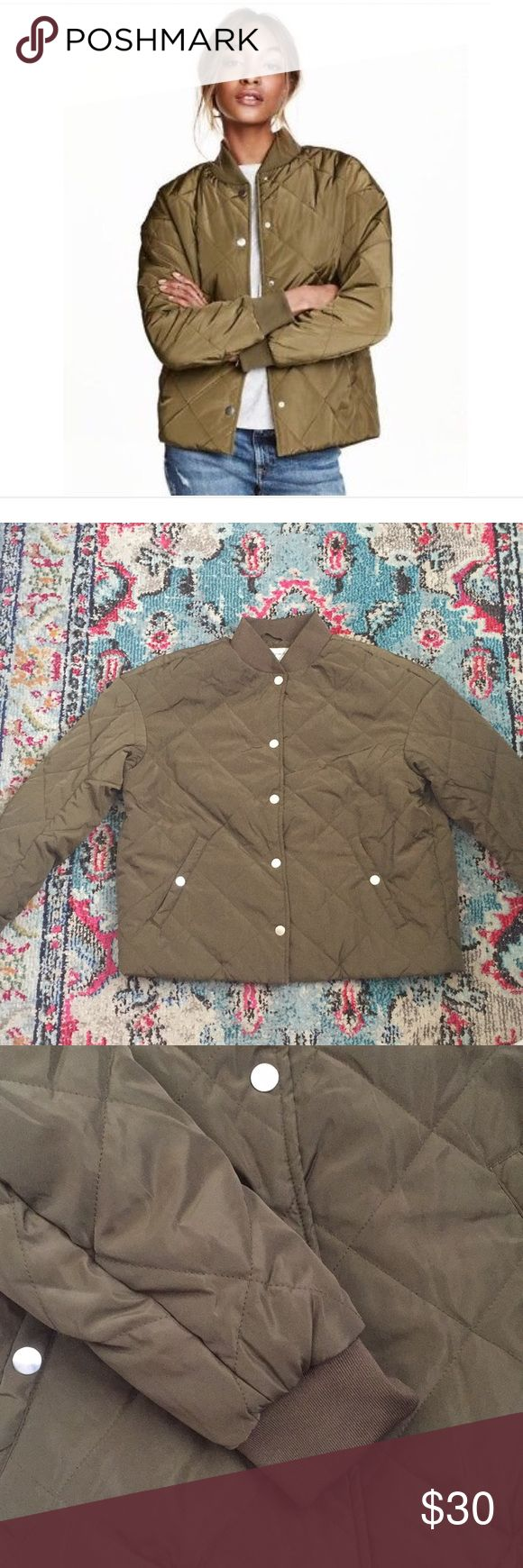H&M Quilted Bomber Jacket H&M's Logg Lightweight jacket