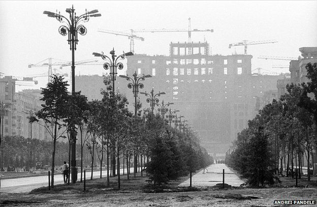Bucharest.  Andrei Pandele was a young architect when he began photographing his home country, Romania, in the 1970s.