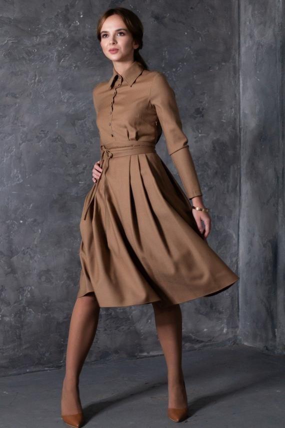 vintage formal brown dress