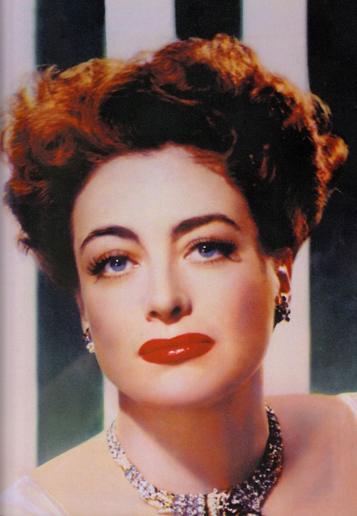 JOAN CRAWFORD 1940's. Rare colour portrait from Max Factor's Hollywood : Glamour : Movies : Make-up