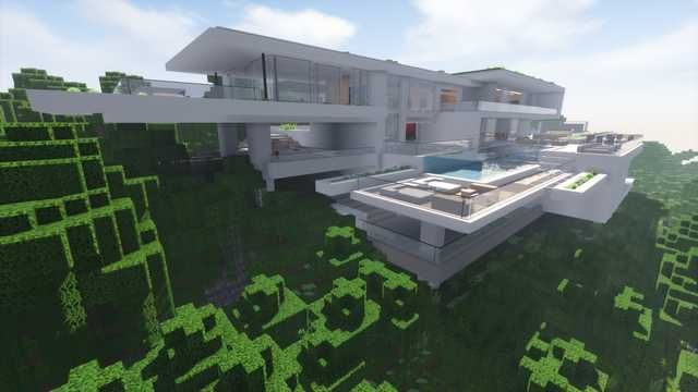 Minecraft Modern Cliff House Download In Description