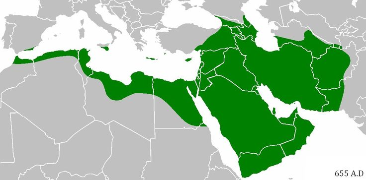 The Rashidun Caliphate spanned 3.6 million square miles at its peak in 654, before being followed by another Islamic Caliphate. It was the largest empire by land area ever at that point in history. Greatest Empires in History - Business Insider