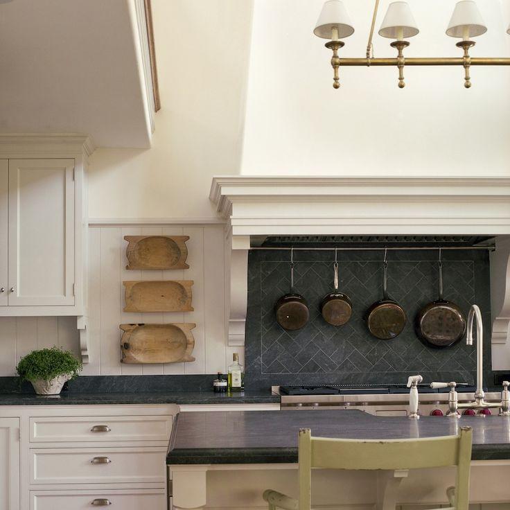Kitchen Backsplash Behind Range: Beautiful Slate Backsplash