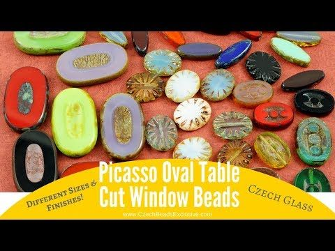 Video! OVAL TABLE CUT Picasso Window Czech Glass Beads    #dawanda #dawanda_de #dawandashop #etsy #etsyshop #etsystore #etsyfinds #etsyseller #amazon #amazondeals #alittlemercerie  #oval #table #picasso #picassobeads #ovaltable #moonstone #turquoise #ovalring #crystal #pearl #glassbeads #czechglassbeads #czechglassjewelry