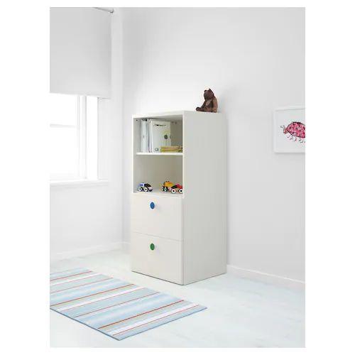STUVA / FÖLJA Combinaison de rangement, blanc, 60x50x128 cm - IKEA | Meuble rangement, Rangement ...