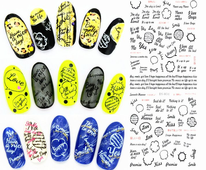 2015Newet design1 piece DS-184 series water transfer nail art stickers decal seal see detail alishoppbrasil