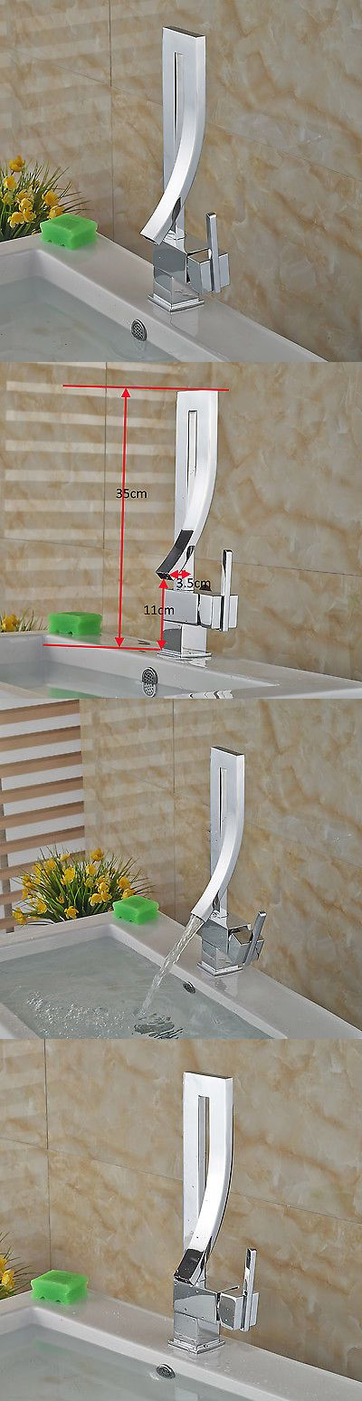 Faucets 42024: Chrome Single Lever Bathroom Basin Faucet Creative Design Sink Mixer Tap -> BUY IT NOW ONLY: $64 on eBay!