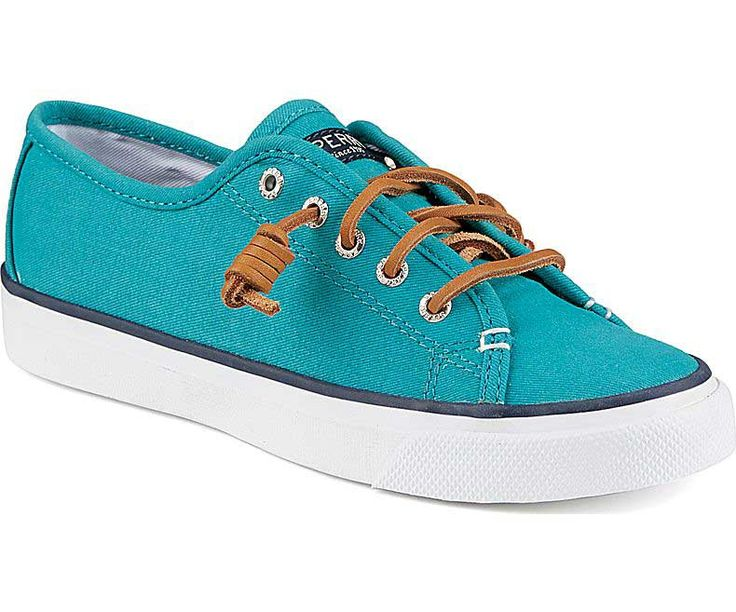 7I4F Sperry Top-Sider Sayel Clew Ox Washed Shoes Womens Teal Cut Price For Sale