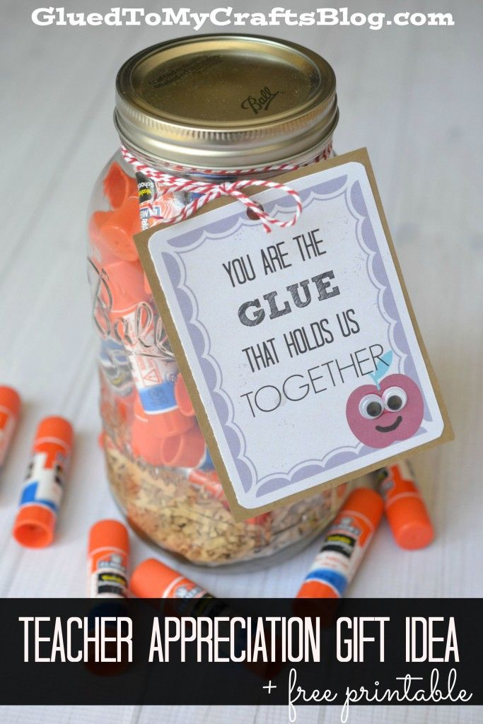 Easy Teacher Appreciation Gift Idea + Free Printable #ad #elmers