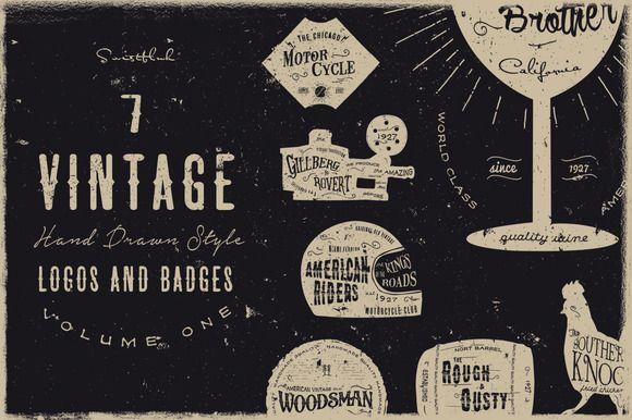 Vintage Logos and Badges Vol 1 ~ Logo Templates on Creative Market