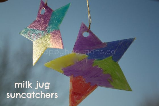 Milk Jug Sun Catchers for Christmas - Happy Hooligans