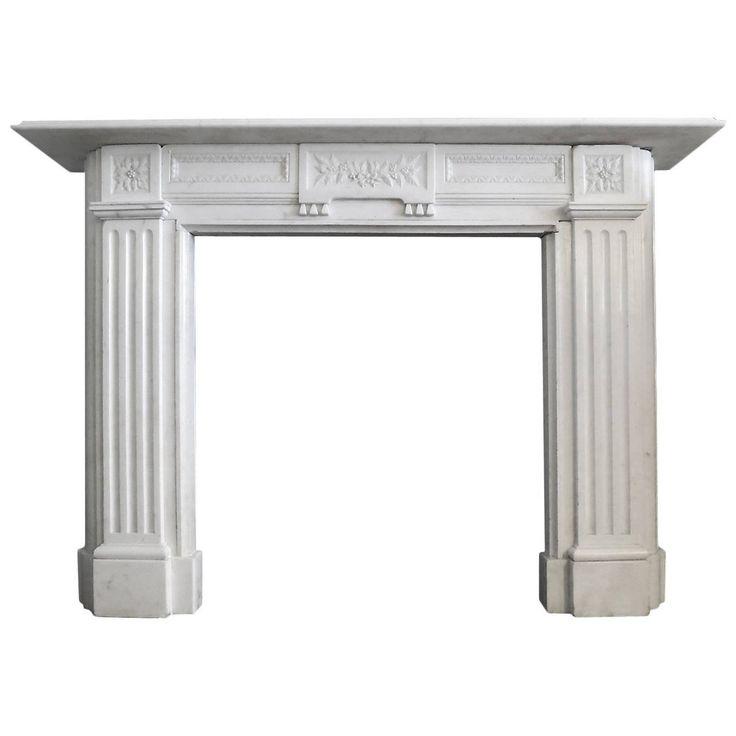 1stdibs Fireplace / Mantel – Antique Style Statuary Marble English Regency Statuary Marble